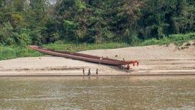 Boat trip on the Mekong River. Luang Phabang, Laos, Asia royalty free stock image