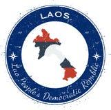 Lao People`s Democratic Republic circular. Royalty Free Stock Photos