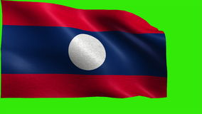 Lao People's Democratic Republic, Flag of Laos - LOOP Royalty Free Stock Image