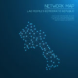 Lao People`s Democratic Republic network map. Stock Images