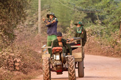 Lao people`s way of life Royalty Free Stock Photo