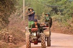Lao people`s way of life. Laos Muang Xai royalty free stock photo