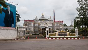 Lao Prime Minister-` s Büro lizenzfreie stockbilder