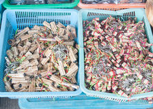 Lao reed mouthorgan bunch souvenir Royalty Free Stock Images