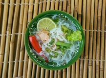 Lao Rice Noodle Soup Royalty Free Stock Photography