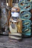 Lao Rice Whiskey avec des serpents et des scorpions, Laos Image stock