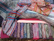 Lao silk Royalty Free Stock Images