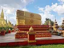 Lao temple, Laos Vientiene Beautiful architecture at buddha park in Vientiane, Laos stock photo