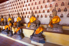 Lao, Vientiane - Wat Si Saket temple. Royalty Free Stock Photos