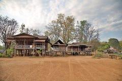 Lao village life around coffee planted Bolaven Plateau, Pakse, Laos Stock Photo