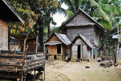 Lao Village. Village's yard in the Laos province Royalty Free Stock Image