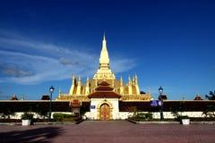 lao złota stupa Vientiane Obraz Royalty Free