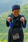 LAOCAI,越南, 9月15日:H'mong在Septemb的少数族裔长辈 图库摄影