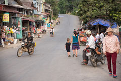 LAOCAI, VIETNAM, JUN 10: daily life of unidentified people in Tu Royalty Free Stock Photography