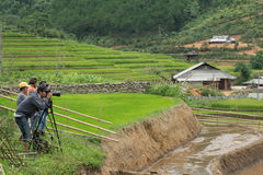 LAOCAI, VIETNAM, JUN 10: Traveler has take a picture for the goo Royalty Free Stock Images