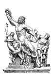 Laocoön and his Sons marble group, vintage engraving Stock Photo
