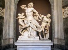 Laocoon和他的儿子,梵蒂冈博物馆雕象  免版税库存图片