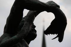 Laocoon Троя сражает змея моря Стоковые Фото