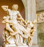 Laocoon e sua estátua dos filhos no museu de Vatican Foto de Stock Royalty Free