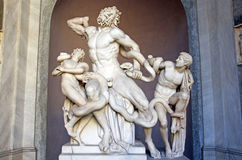 Laocoon group. (Laocoon and his sons) in Vatican Museum Royalty Free Stock Photo