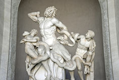 Laocoon and His Sons statue in Vatican Museum Stock Photo