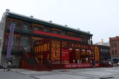 Laodaowai Grand stage , traditional Chinese Architect,The old grey house,Laodaowai Baroque the district in Harbin, China. Laodaowai ,The old grey house, Stock Photography