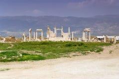 Laodicea废墟市在现代的罗马帝国,土耳其,棉花堡 免版税库存照片