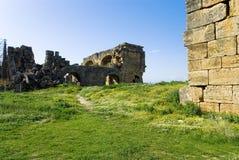Laodicea废墟市在现代的罗马帝国,土耳其,棉花堡 图库摄影