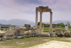 Laodicea废墟市在现代的罗马帝国,土耳其,棉花堡 库存图片