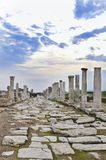 The Ancient City of Laodikeia aka Laodicea in Denizli City in Aegean coast of Turkey. Laodicea on the Lycus was an ancient city built on the river Lycus. It was royalty free stock photo