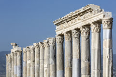 Laodikya forntida stad i Denizli, Turkiet Arkivbilder
