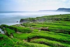 Laomei Green Reef - Taiwan North Coast seasonal features, shot in Shimen District, New Taipei, Taiwan. Shot in Shimen District, New Taipei, Taiwan royalty free stock photography