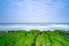 Laomei Green Reef - Taiwan North Coast seasonal features, shot in Shimen District, New Taipei, Taiwan. stock photos