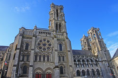 Laon Cathedral, France Stock Images