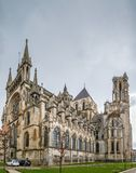 Laon Cathedral, France. Laon Cathedral is one of the most important examples of the Gothic architecture of the 12th and 13th centuries located in Laon, Picardy Royalty Free Stock Photography