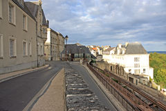 Laon, France. Funicular tracks in Laon, France Royalty Free Stock Photo