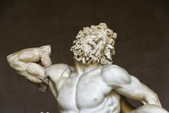Laookoon. Fragment (laookoon's body and face) of the statue of Laocoon and His Sons also called the Laocoon Group. monumental sculpture in marble Stock Photos