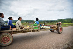Laos średniorolny Napędowy ciągnik obraz stock