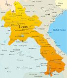 Laos. Vector map of Laos country Royalty Free Stock Photo