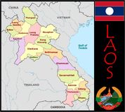 Laos Administrative divisions Stock Photo