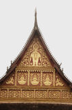 Laos art on roof church in Laos Temple . Stock Photography