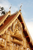 Laos art on roof church in Laos Temple . Royalty Free Stock Images