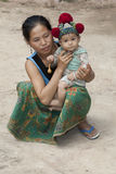 Laos, Asian mother with baby Yao Stock Photo