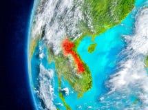 Laos auf Erde vom Raum Lizenzfreie Stockfotografie