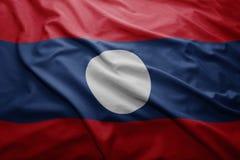 Laos bandery Obrazy Stock