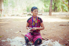 LAOS, BOLAVEN  FEB 12, 2014 : Unidentified Alak tribe women in v Royalty Free Stock Photos