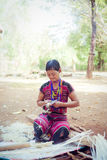 LAOS, BOLAVEN  FEB 12, 2014 : Unidentified Alak tribe women in v Royalty Free Stock Photography