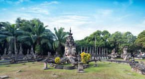 Laos Buddha park.Tourist attraction in Vientiane Stock Photos