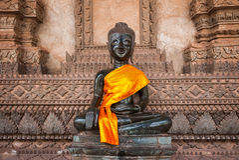 Laos Buddha w Vientiane Zdjęcie Royalty Free