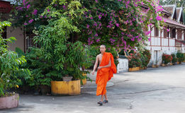 Laos buddhist monk. Vientiane. Laos. Royalty Free Stock Photos